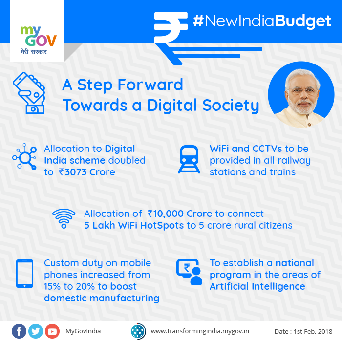 union budget 2018-19 new india digital india