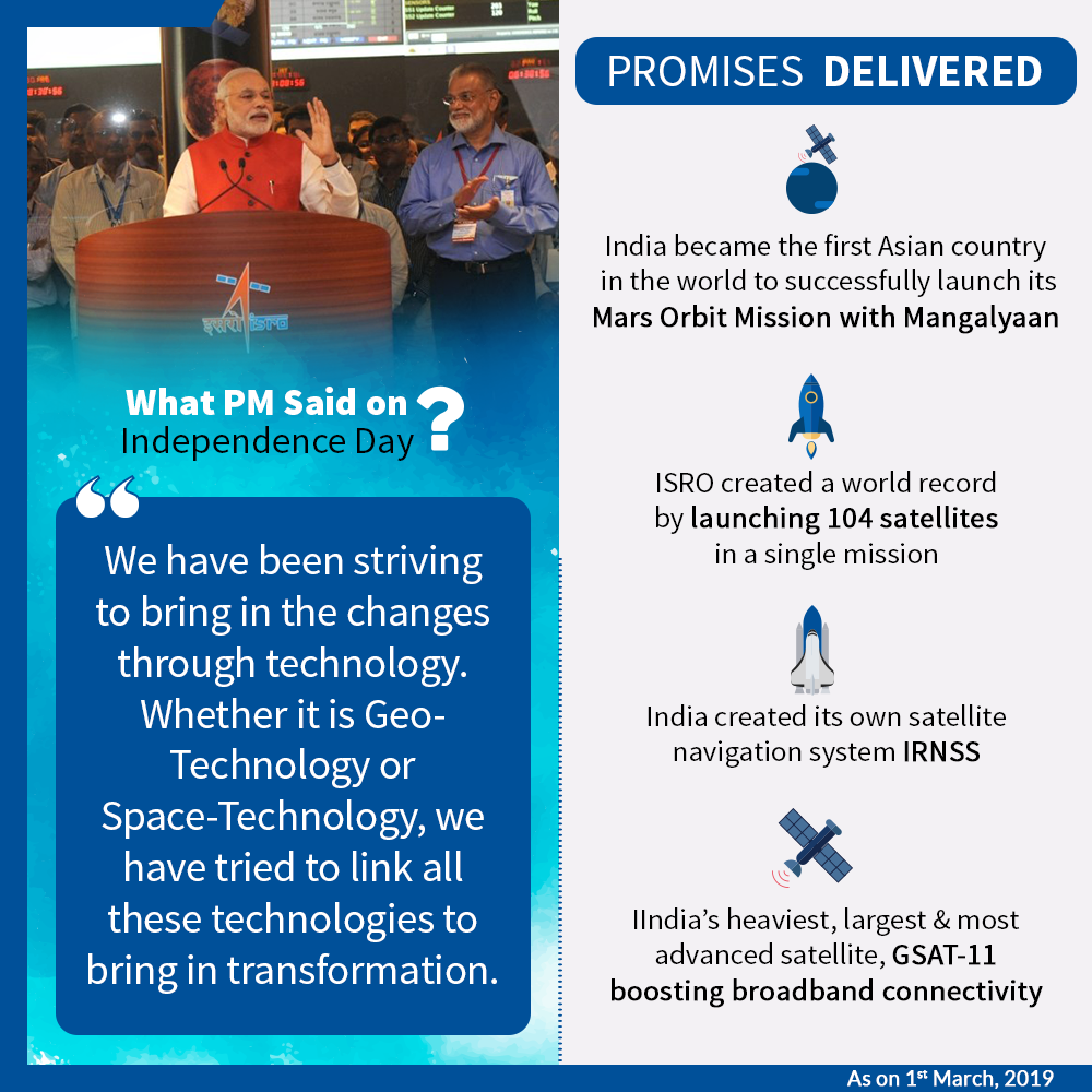 Promise delivered to space technology Image
