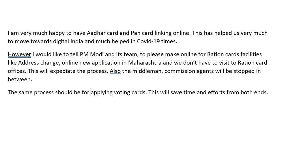 I am very much happy to have Aadhar card and Pan card linking online. This has h